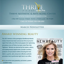 Skincare Newsletter Portland - March 2014 Newsletter